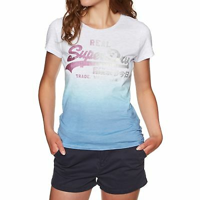 48c4eeea SUPERDRY VINTAGE LOGO Dip Dye Entry Womens T-shirt - Ice Marl-blue All  Sizes - $36.81 | PicClick