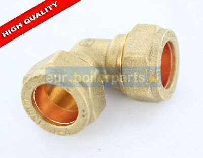 Brass Compression Equal 90' Elbow 15mm brand new