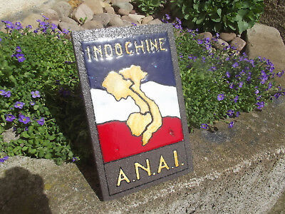 plaque insigne ANAI INDOCHINE peinture emaille collection decoration militaire