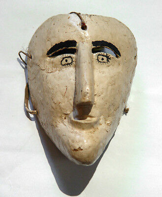 Early 20th Century Mexican Arquero / Archer Ceremonial Wooden Dance Mask