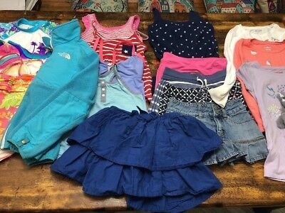 Huge Lot Girls Size 7/8 Summer Fall Clothes NORTH FACE