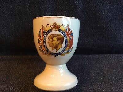 King George VI Coronation Commemorative Egg Cup with colour image Transfer