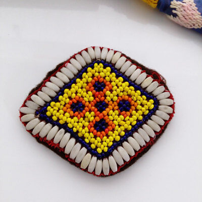 Kochi Kuchi Beaded Ats Belt Ethnic Dance Tribal Fusion Gul Patch Applique 3.6""