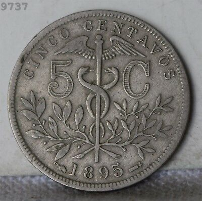 "1895 Bolivia 5 Centavos ""VF/XF"" *Free S/H After 1st Item*"