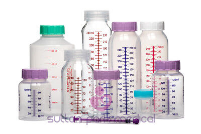 Sterifeed baby breast milk bottle range 50-250ml disposable, reusable, or glass