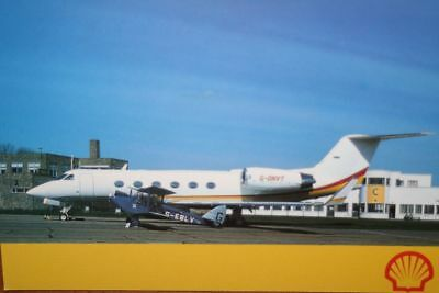 AK Airliner Postcard SHELL Gulfstream IV Shell issue