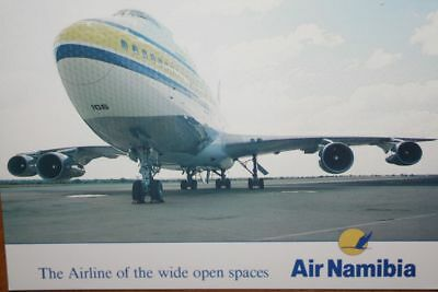 AK Airliner Postcard AIR NAMIBIA B.747SP airline issue