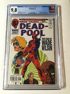 Deadpool -1 Cgc 9.8 White Pages Flashback Wade Wilson