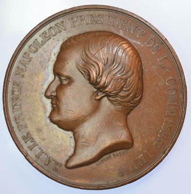 France - 1855 Prince Napoleon and President of the Universelle Exposition medal