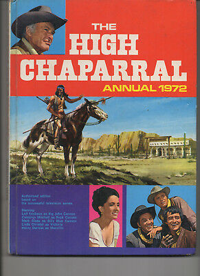 The High Chaparral Annual 1972 Very Good Hard Back Uk Book