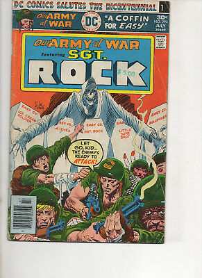 Our Army At War 294 Fine 1976 Dc Bronze Age Comic