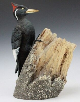 Limited Edition Crested Woodpecker Bird Hai Feng Ma Nature Company Statue NR GLP
