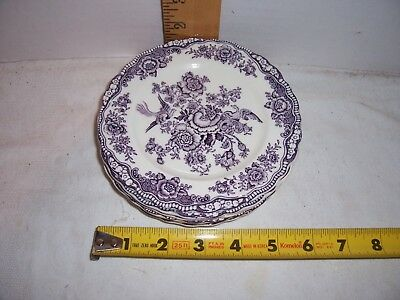 """Vintage Crown Ducal Bristol England 6"""" Bread & Butter Dish/Plate Mulberry 5 Avai"""