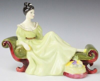 VTG Royal Doulton England At Ease HN 2473 Lady Reclining Porcelain Figurine NBB