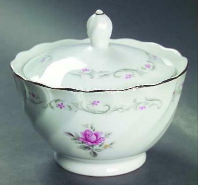 Sugar Bowl & Lid in Royal Swirl by Fine China of Japan