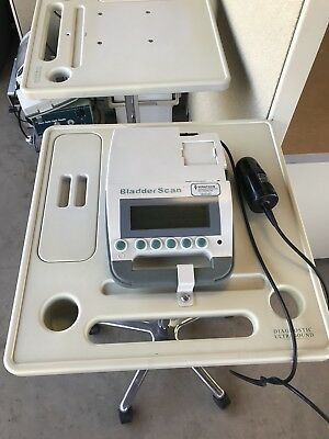 Verathon BladderScan BVI 3000 Bladder Ultrasound w/ Cart Probe Charger