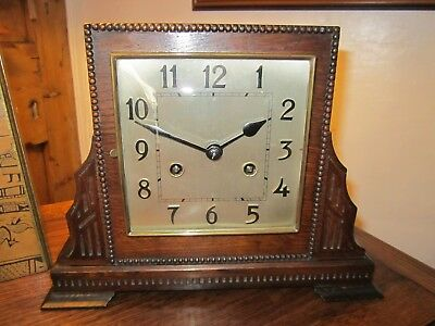 Antique Striking Mantel Clock About 1910 In Very Good Working Order