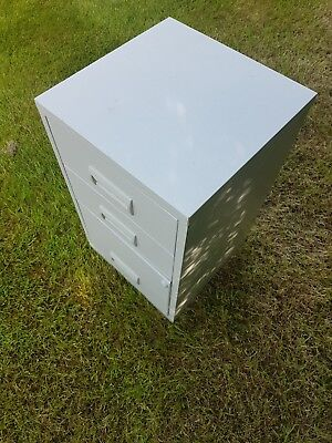 3 Draw small metal filing cabinet