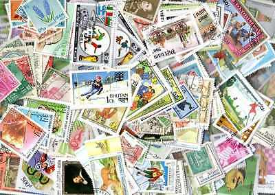 Asie 1000 stamps different obliterated all countries