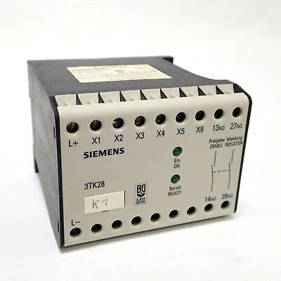 Siemens Siguard 3Tk2801-0Db4 Emergency Stop Safety Relay Contactor No 24 Vdc