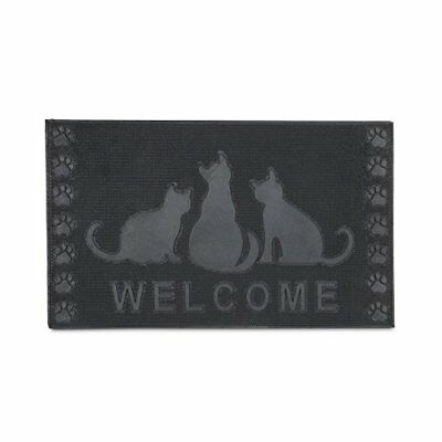 Relaxdays – Felpudo rectangular WELCOME decorativo para la entrada del hogar,