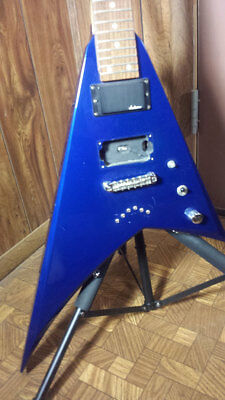 Jackson Flying V Electric Guitar Blue For Parts Or Repair Project AS IS