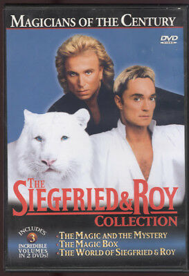 The Siegfried and Roy Collection Magicians of Century 2 DVDs White Tiger Circus