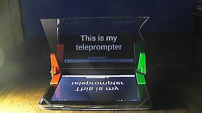 Turn your Tablet into a Teleprompter