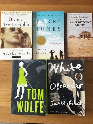 Lot of 5 Fiction National Bestseller Paperback Books