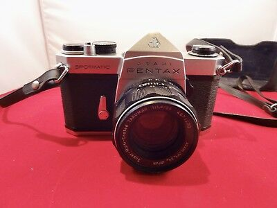 Pentax, Asahi Spotmatic Vintage Camera And Case