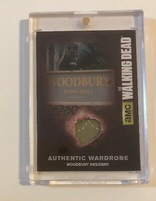 M38B Woodbury Resident Authentic Wardrobe Card Rare Walking Dead Season 4 Part 2
