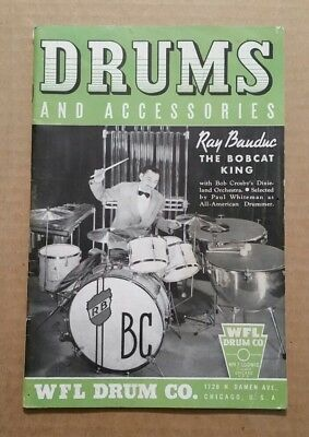 Drums & Accessories,WFL(Wm.F. Ludwig) Drum Co.Chicago,Ill.,Catalog,1939