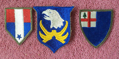 (3) WW2 Military Patches, incl incl scarce Airborne patch (Cpl {pma collection)