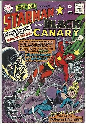 Brave And The Bold 61 August 1965 Starman Black Canary 7.5 Very Fine- No Reserve