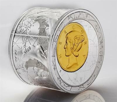 Niue 2013 $50 Fortuna Redux Mercury 6oz Cylinder-shaped Gilded Silver Proof Coin