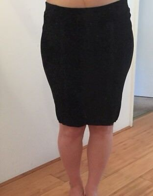 New Ripe Maternity Stretchy Black Contour Knit Pencil Skirt Size M (approx 12)