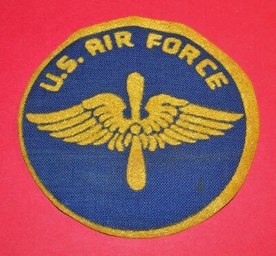 Large Original Cut-Edge Ww2 Aaf Air Force Px Patch, Felt On Oilcloth Base