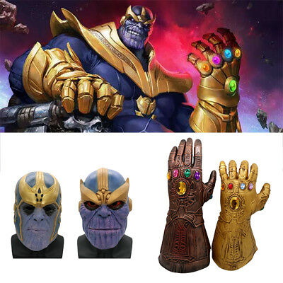 Infinity War Avengers Thanos Gauntlet Glove & Mask Cosplay Prop Role-Playing AU