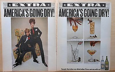 1967 two page magazine ad Canada Dry Sodas - America's Going Dry! 1920's style