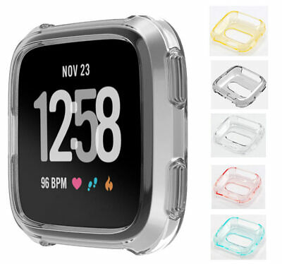 Silicone TPU Bumper Protective Rubber Frame Bezel Case Cover For Fitbit Versa
