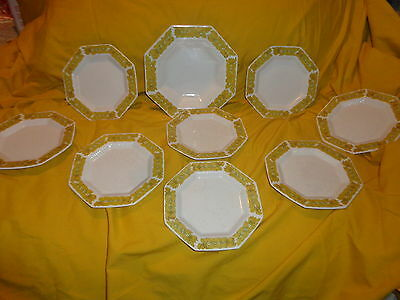(9)pc lot of INDEPENDENCE IRONSTONE bread & butter etc by  INTERPACE  NKT  JAPAN