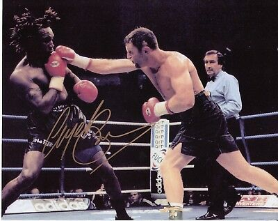 Nigel Benn Autographed Boxing Photograph with COA - Hand Signed