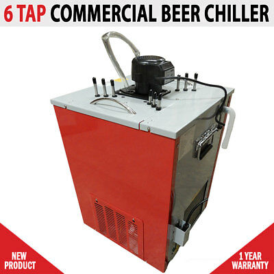 NEW Commercial 6 Tap Beer Ice Bank Chiller Cooler Flooded Tap Temprite