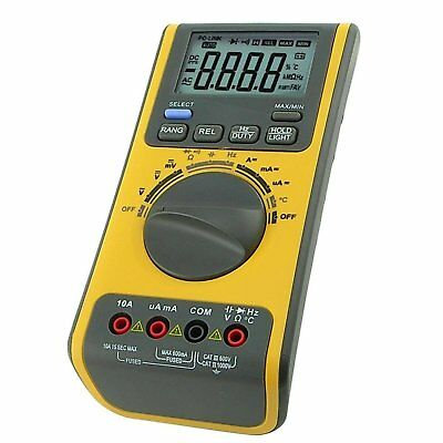Digital Multimeter Voltmeter Thermometer Ohm USB/CD BP w/ Software & USB cable