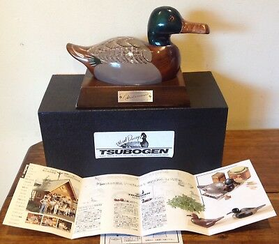 Vintage Tsubogen Wood Decoy Duck-Japan