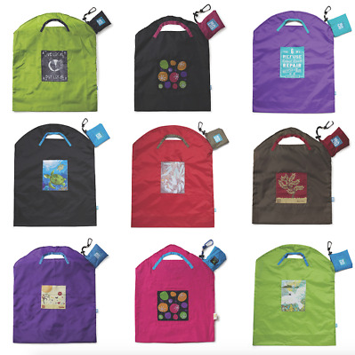 New Onya Reusable Shopping Grocery Multi-Use Bag rPET Eco BPA Free Large Small