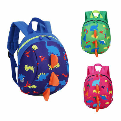 Toddler Backpack Anti-lost Band Kids Children Bag Dinosaur Cartoon School Bag U