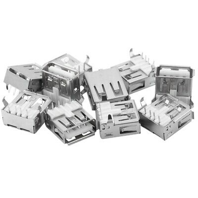 20 PCS USB Type-A Female PCB Mount Socket Plug Connector Right Angle 4 Pin PF