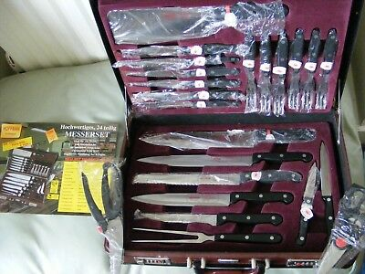 Hoffman Solingen  and Steak knife and Cutlery Set in Briefcase