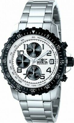 Invicta 5999 Gent's Chrono White Dial Steel Bracelet Quartz Watch